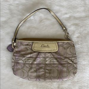 COACH Wallet Clutch pouch | Gold & Lilac
